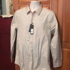 Galaxy Men's Designer Shirt size XXL Slim-Fit New